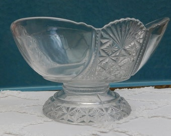 """LOVELY Antique Pressed glass compote """"Hartley"""", Richards & Hartley Circa 1888 Compote, Cover, Large"""