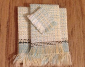 Linen Bath Towels - Dollhouse Size- Free US Shipping