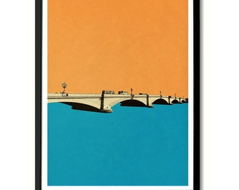 Putney Bridge, London Wall Art Print
