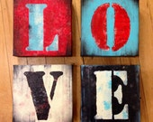 Made To Order 6x6 LOVE Letters ORIGINAL Handpainted on Canvas by Federico Farias