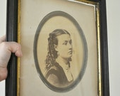 Antique Victorian Photograph - Original Frame - Antique Portrait