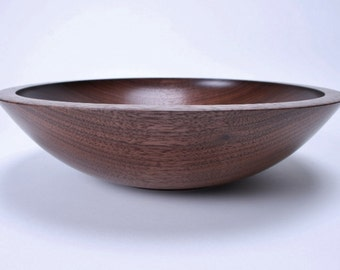 "Black Walnut Wooden Salad Bowl #1378 11 3/4"" X 3"""