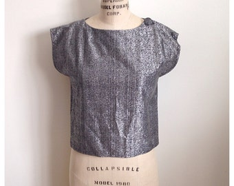 Vintage 1980s metallic top