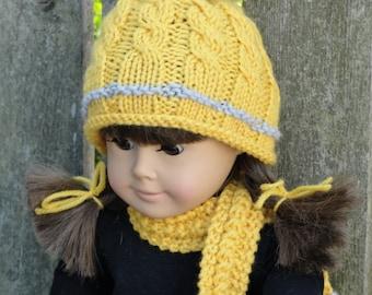 Knitting Pattern For Dolls Beanie : American doll Etsy