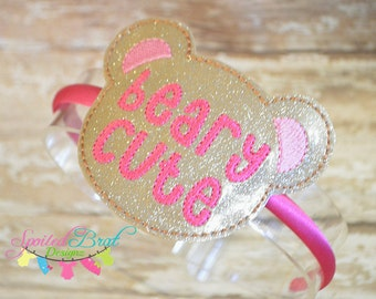 Beary Cute Valentine Slider Headband, Girls or Toddler Girls, Perfect for Valentines Day