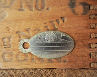 Vintage United States Coast Guard USCG Military ID Tag - New Old Stock Blank - For Stamping / Engraving -Quantities Available