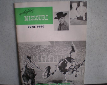 Vintage Mid Century Travel Guide - Missouri - Goes Western