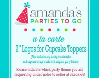 "2"" Logos for Cupcake Toppers   Printable A la Carte Party Single   Amanda's Parties To Go"