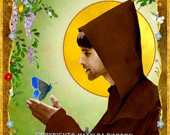 Saint Francis of Assisi Holy Card