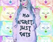 Customizable No Regrets Just Cats Sweatshirt
