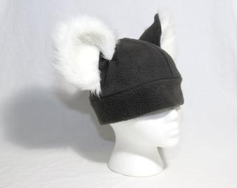 Furry Koala Hat - Realistic Long Fur ears