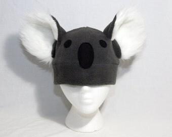 Koala Hat with Face Long Fur Ears