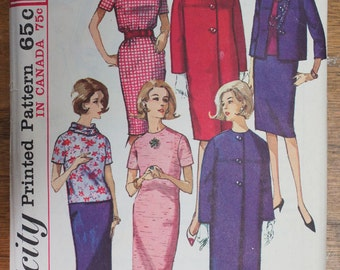 Vintage Sewing Pattern Dress and Jacket With Detachable Collar Simplicity 5616 Size 14