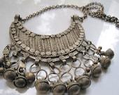 Vintage Bedouin Necklace, Crescent Necklace, Yemeni, Ethiopian, Ethnic Tribal Jewelry, Tribal Necklace