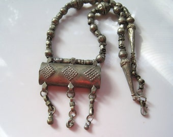 Vintage Bedouin Necklace from Arabian Peninsula - Hirz Tribal Amulet Necklace - Bedouin Jewelry