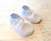 Christening, Baptism, Dedication Seersucker Baby Shoes