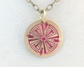 Haven TV show Pink Guard brass circle pendant