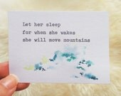 Let her sleep. Typewriter Love, Original watercolour art by dabblelicious