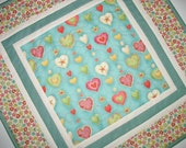 Heart Table Topper  Hearts on a Stem  fabric from Makeover