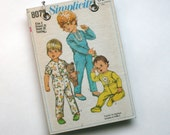 Upcycled Vintage Sewing Pattern Notebook Recycled Journal - Refillable Notepad  - Children's Size 3 Pajama Pattern  Included