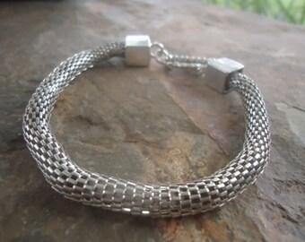 TUBE BRACELET - SNAKE Bracelet - thick bracelet