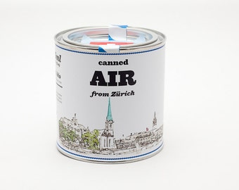 Original Canned Air From Zurich, Switzerland, gag souvenir, gift, memorabilia