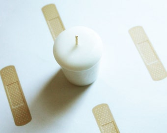 Bandage Scented Votive Candle - Paraffin Wax - Home Decor - Votive Candles - Wedding Candles - Birthday Candles - Candle Favors
