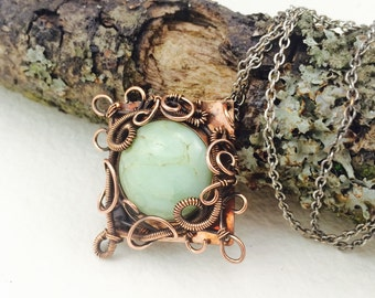 Shared Wisdom - Chrysocolla and Copper Statement Pendant