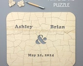 170 pc Custom Wedding Guest Book Puzzle, guestbook alternative, wedding AMPERSAND puzzle guest book, Bella Puzzles™ rustic bohemian wedding