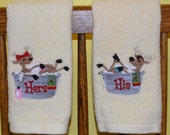 Relaxing Reindeer His and Hers Towel Set