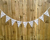 LACE Banner Bunting Wedding Decoration Bridal Shower Baby Shower Rustic Woodland Wedding Decor Lace Garland Pennant flags by SheriSewSweet