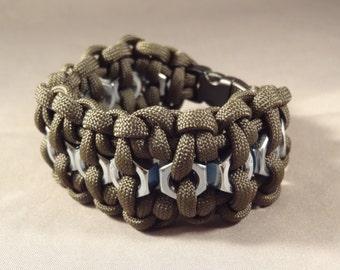 Hex Nut Paracord Survival Bracelet