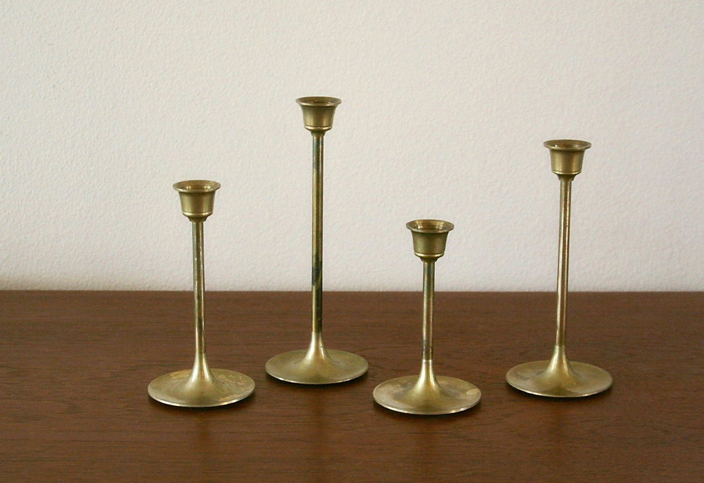 Vintage Brass Candle Holders 102