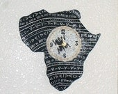African Clock - Black and White Mud Cloth design