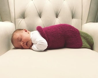 Hand Knit Baby Cocoon/Sleep Sack