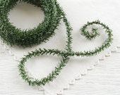 Skinny Pine Rope - 25 Feet, Wired Christmas Trim Greenery Garland