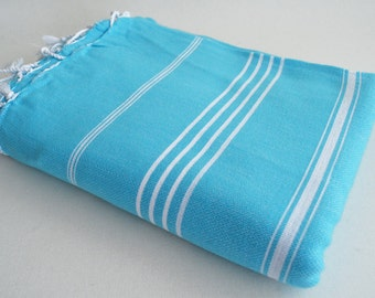 SALE 50 OFF/ Classic Blanket / Blue / Beach blanket, Picnic blanket, Sofa throw, Tablecloth, Bedcover