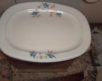 Vintage Blue Bird Platter Carrollton China  JUST REDUCED