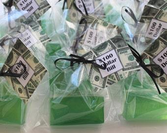10 100 Dollar Bills Party Favor Soaps