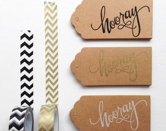 Party Favours, Wedding Gift Tags, Favours, Wedding Favours, Party Decor, Rustic Party Favours, Bridal Shower Tags, Kraft Tags, Hooray