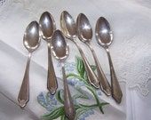 Silver plate demitasse spoons