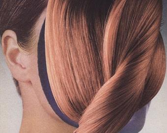 warmest hair ONE-STEP COLLAGE original 16.5cm x 22.9cm