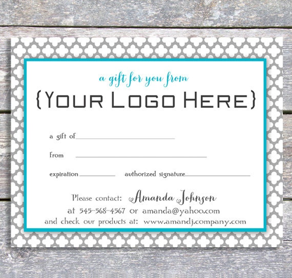 personal gift certificate