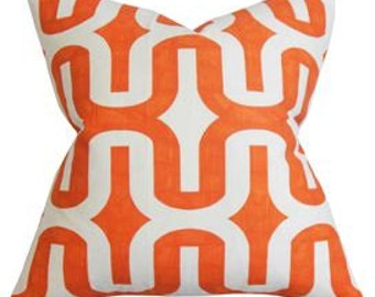 orange geometric midcentury design  select your size and color