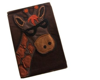 Removable book cover giraffe notebook by tratgirl