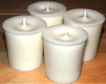 Votive 12 Pack - Natural Blended Soy Wax - 15 Hour Burn Time ~ Unscented White Votive