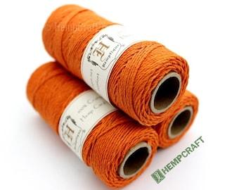 Hemp Twine, Atomic Orange 1mm Colored Hemp Craft Cord