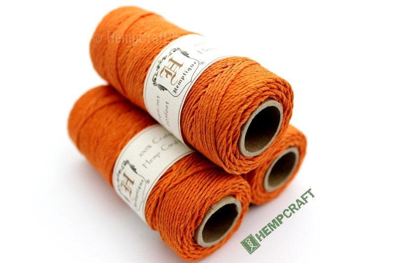 Hemp Twine Atomic Orange 1mm Colored Hemp Craft Cord