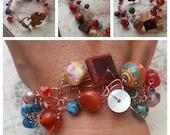 SALE. A Bit Southwest. Wire Crocheted Bracelet.