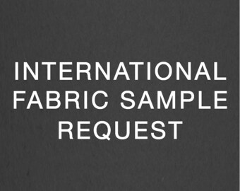 Fabric Sample shipped to International Address